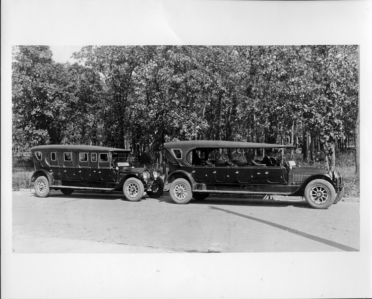 Two Packard jitney buses of Red Ball Transp co