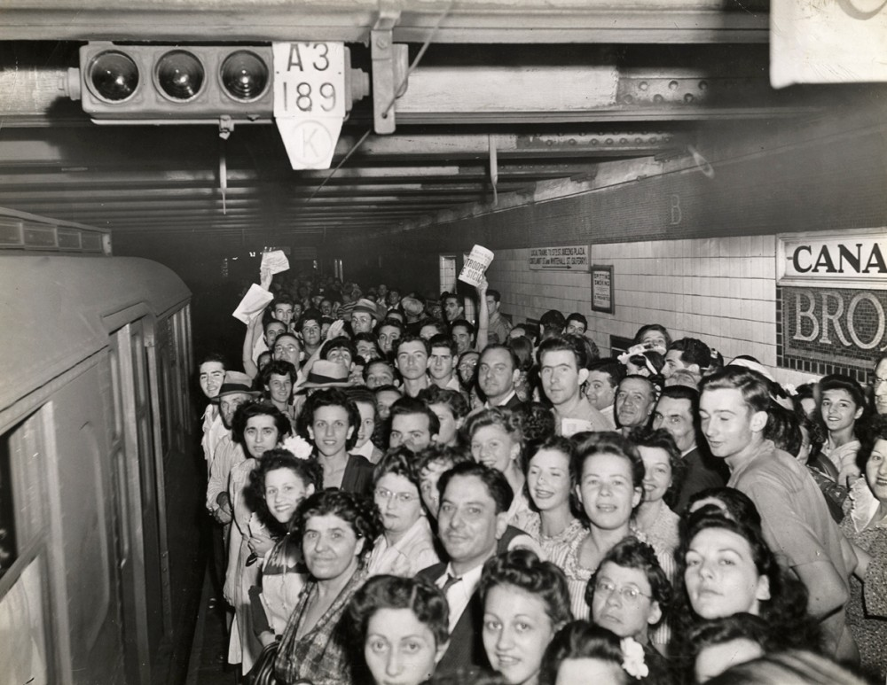 Weegee - Subway Serves as Blackout Shelter, August 13, 1943