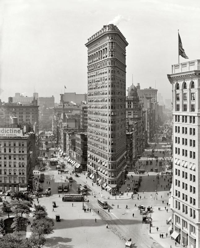 Флэтайрон-билдинг, 1909 год.
