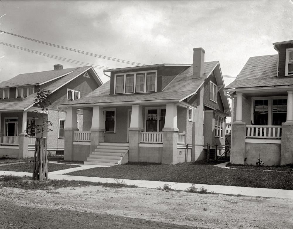 Жилые дома в Колумбии, Вашингтон 1920 год