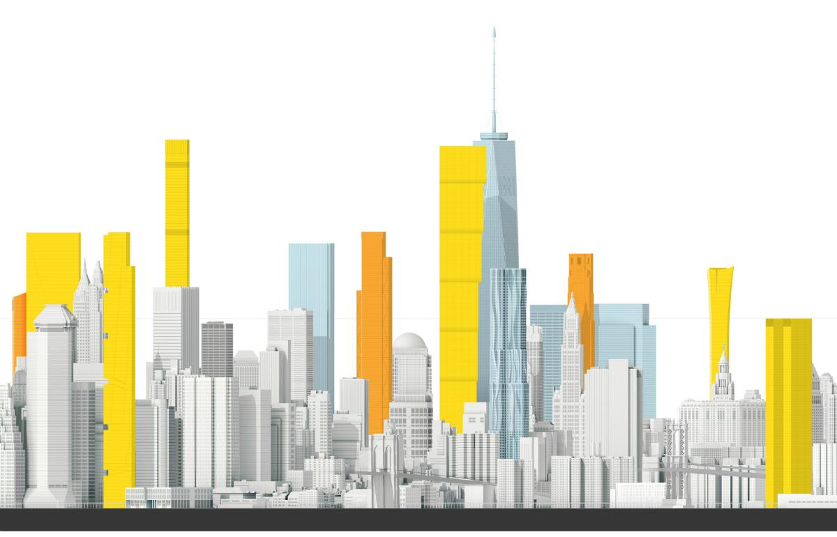 Новые небоскребы Нью Йорка Нижний Манхэттен Samsebeskazal