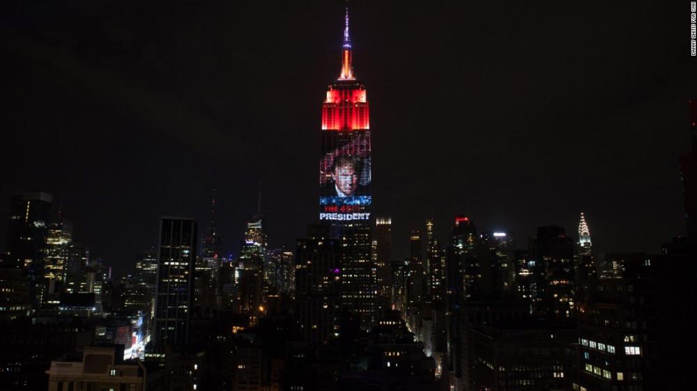 Ночь в Нью-Йорке, когда выбрали Трампа