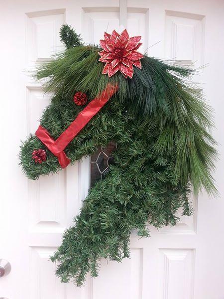 horsehead holiday wreath