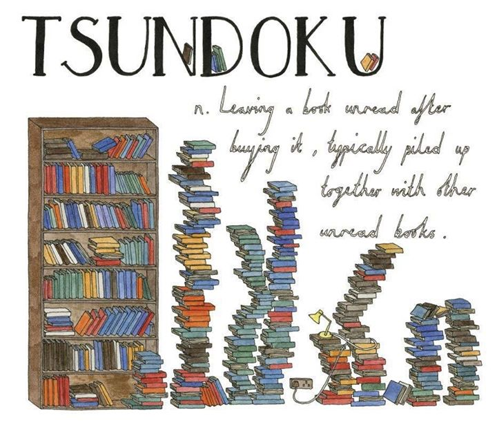 japanese for piles of unread books