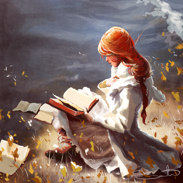 girl reading book by samantha dodge