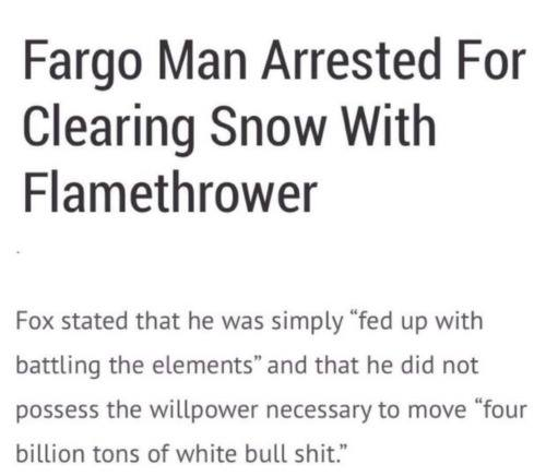 another way to clear snow