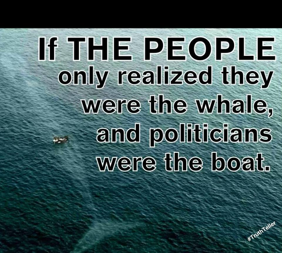 the people are the whale and politicians are the boat