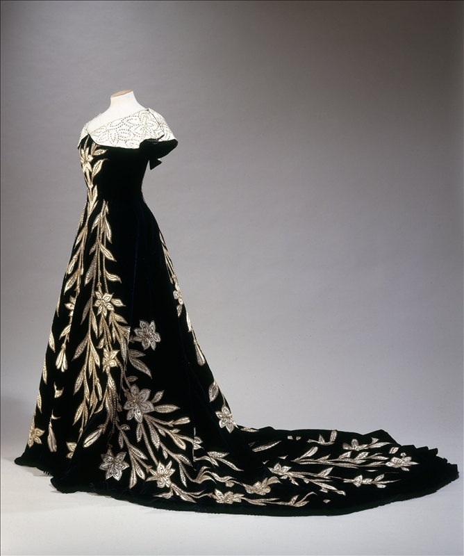 1896 lily evening gown by worth