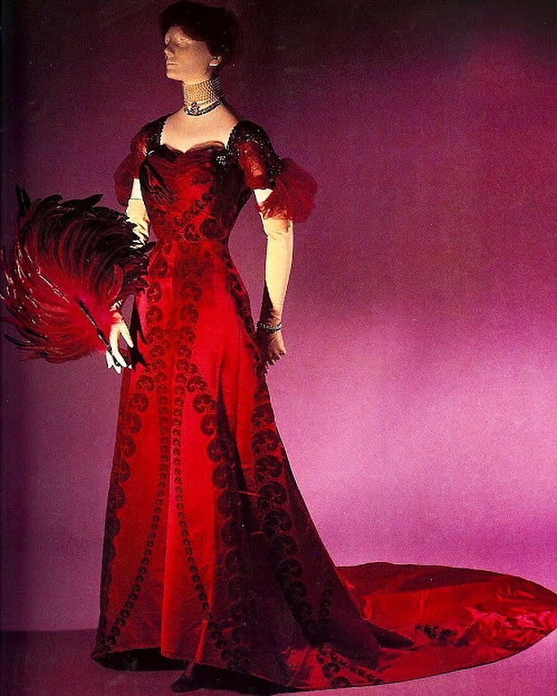 evening dress by house of worth 1908