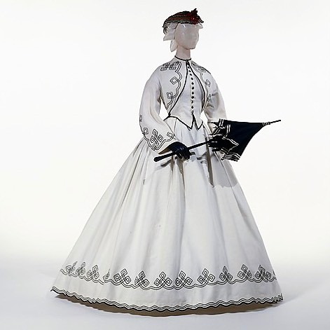 promenade dress american 1862-1864