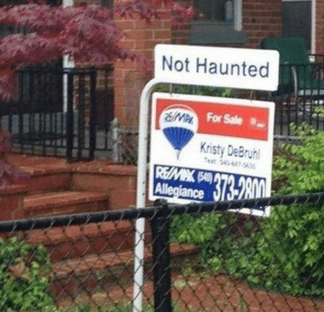 not haunted house for sale