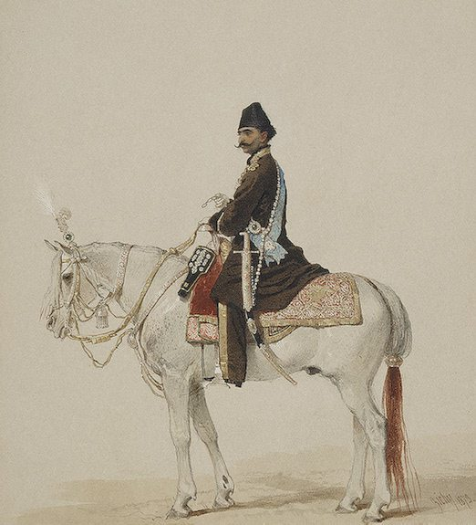 naser-alddin-shah-on-horseback