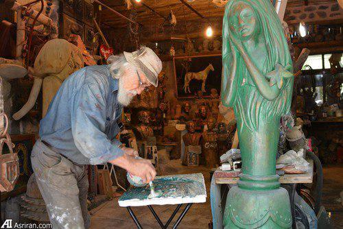 Скульптор Насер Хушманд Вазири и его Пещерный музей