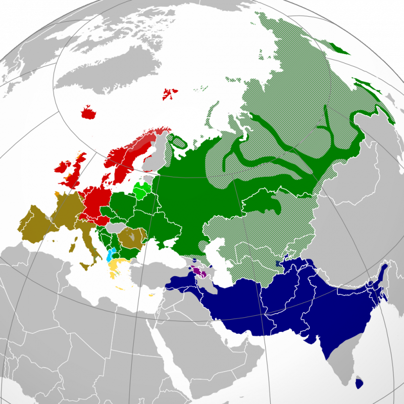 индоевропейские ареалы