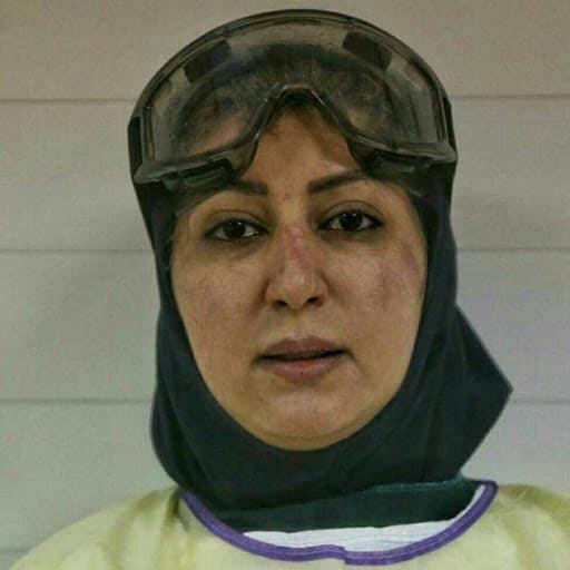 Фото: Иранская медсестра в одной из больниц Тегерана во время пандемии коронавируса