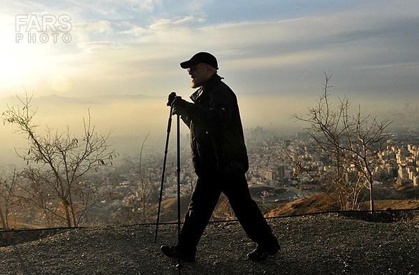Президент Ирана, Хасан Роухани на прогулке в горах
