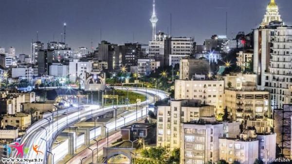 تصاویری-هنرمندانه-از-زیبایی-های-تهران-در-شب-1