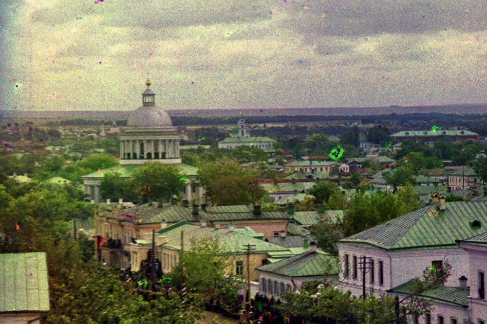 Зеленые крыши дореволюционного Белгорода (Прокудин-Горский)