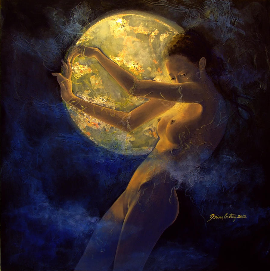 full moon woman