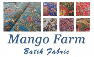 Cotton batik fabrics from exotic sarongs