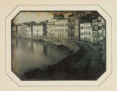 13  Пиза, вдоль реки Арно. 1844 год.
