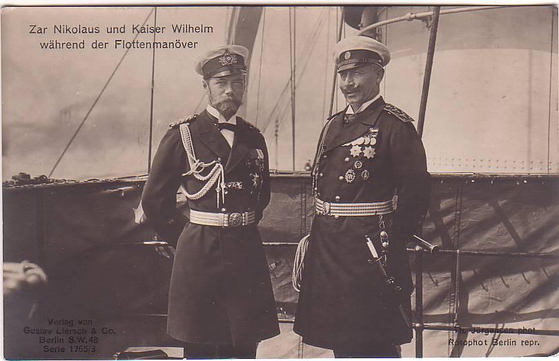 11   Николай и Вильгельм 2 императора 1909 год