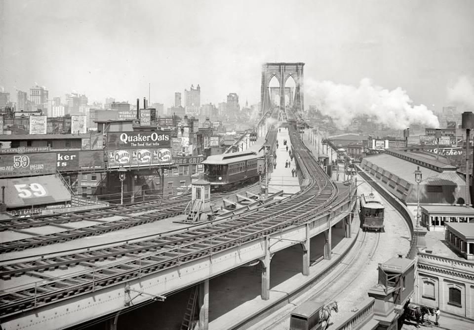 03  Нью-Йорк Бруклин бридж 1903 год