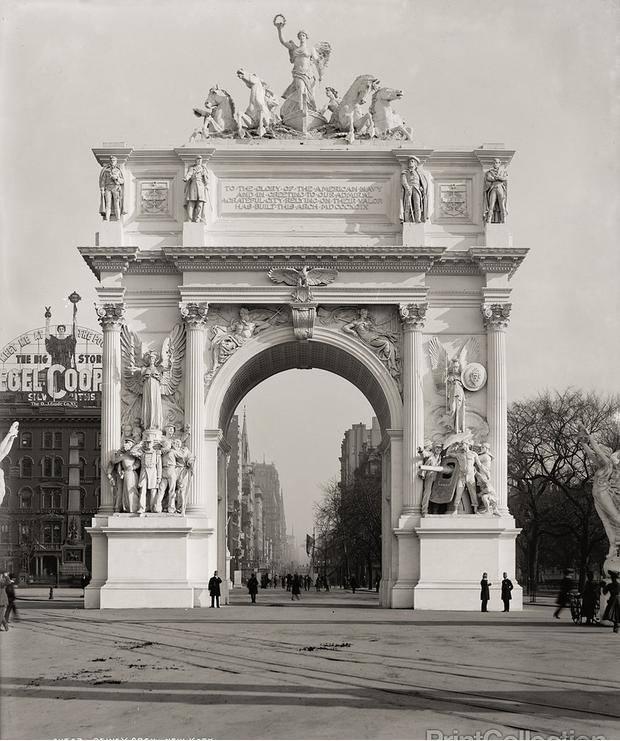 18  Арка. Нью-Йорк 1900 год