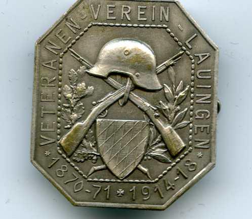 01  Бавария. ветеранский знак за франко-прусскую войну