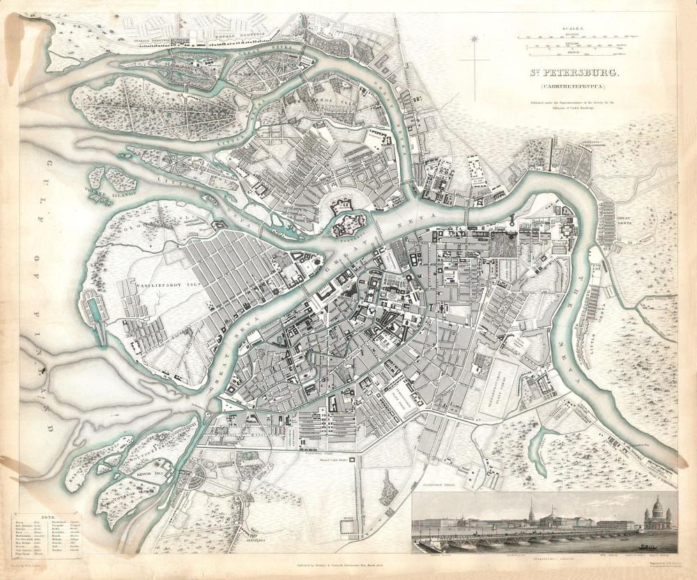 13 карта Петербурга