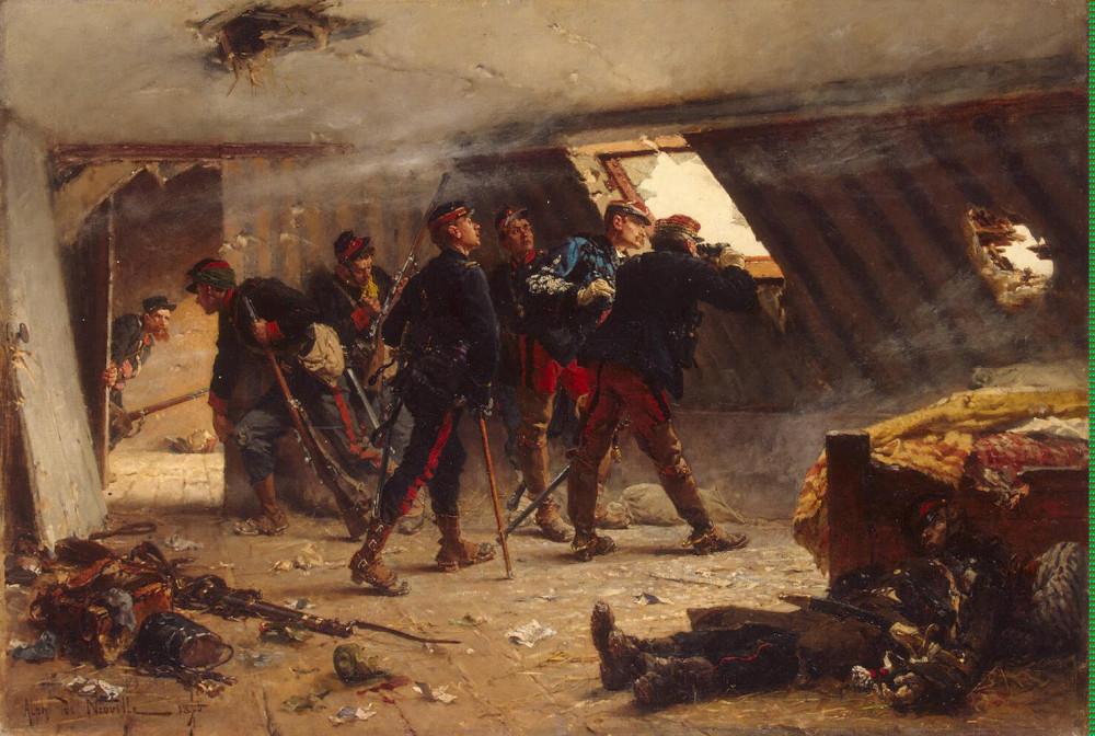 41  Neuville_Alphonse_Marie_de-ZZZ-An_Episode_from_the_Franco-Russian_War_(The_Garret_in_Champigny_in_November_1870)