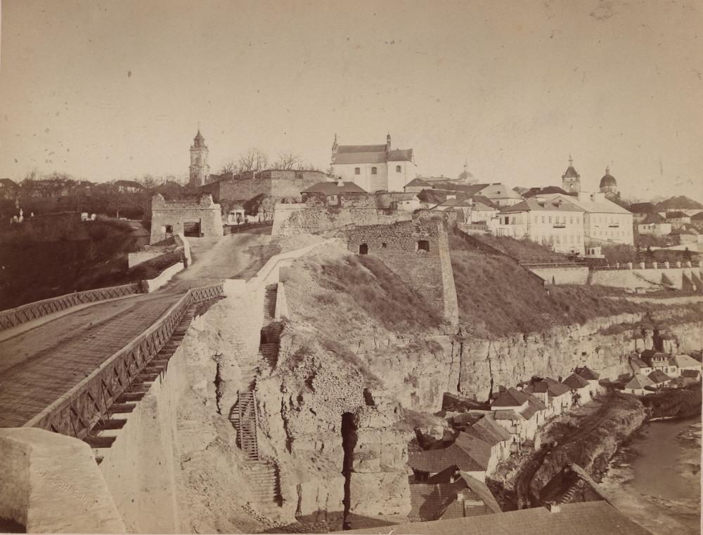 02  Каменец-Подольский часть 6  остатки крепостной стены  1885г