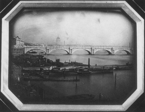 07  Мост и лодки на Темзе. 1851 год