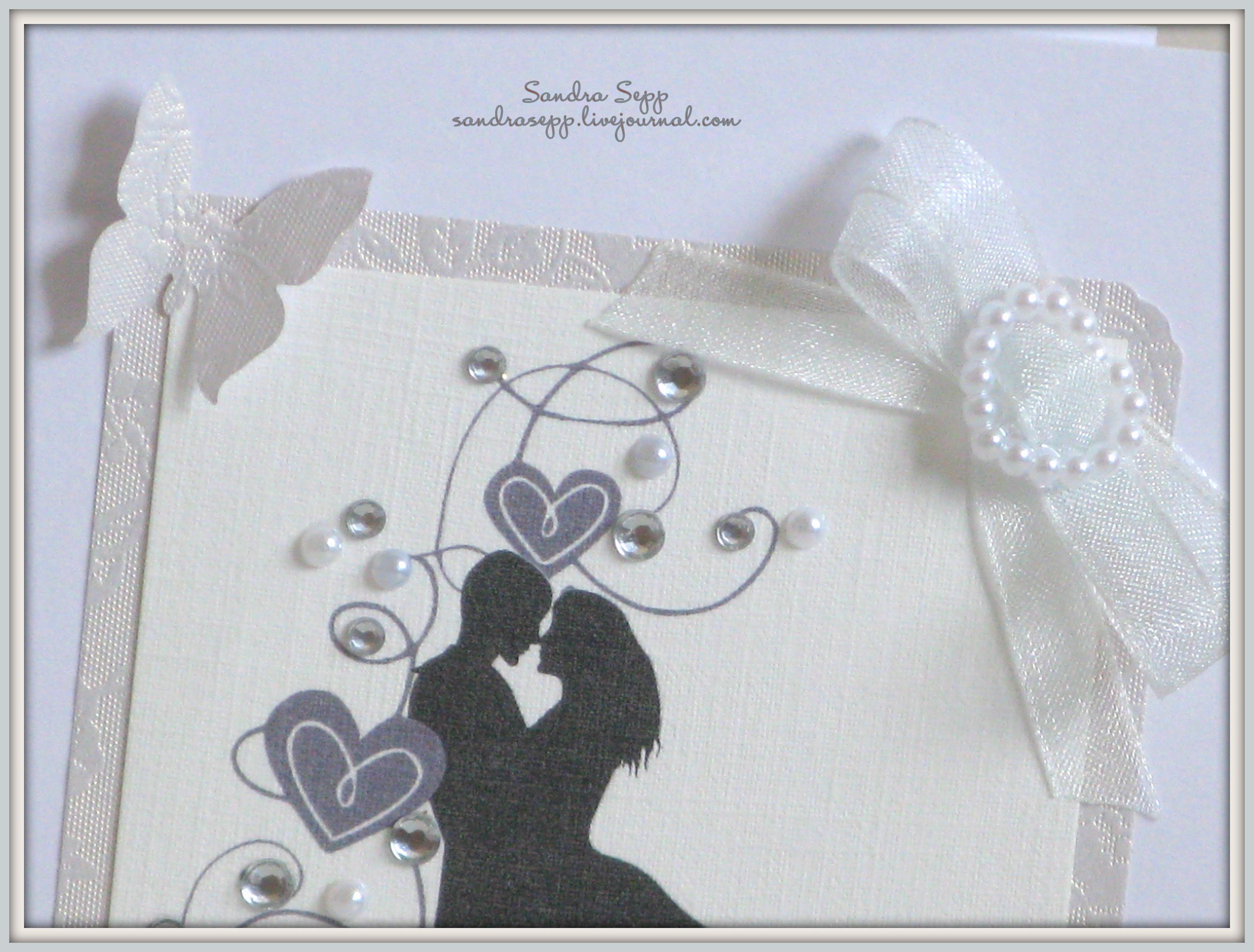 Открытка на венчание скрапбукинг