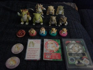 sandshrew cards and figures collection update