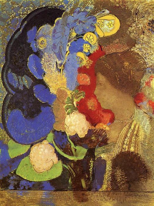 Odilon-Redon-Woman-among-the-Flowers