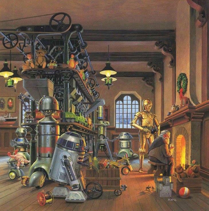 Открытка, выпущенная компанией Lucasfilm к Рождеству 1980 г. 666724617690779_n