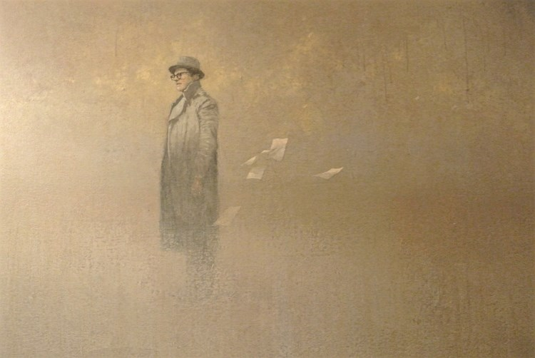 Federico Infante (Chilian, b.1982) The writer (detail) 70 x 48 inch. acrylic on canvas. 2013 _n