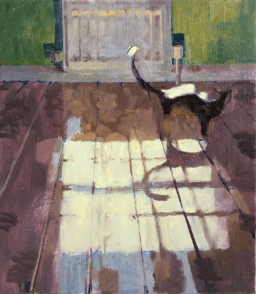 James Bland (British, b.1979) Moonlight with Cat 057314_o