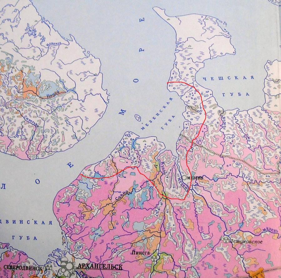 карта Мезнских тундр