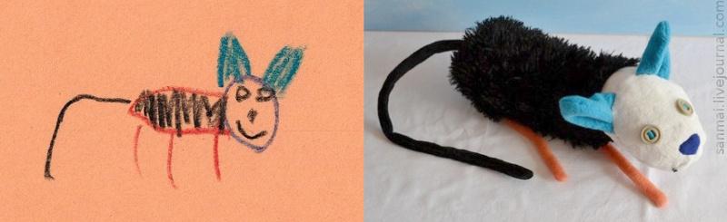 Что если из детских рисунков сделать игрушки?