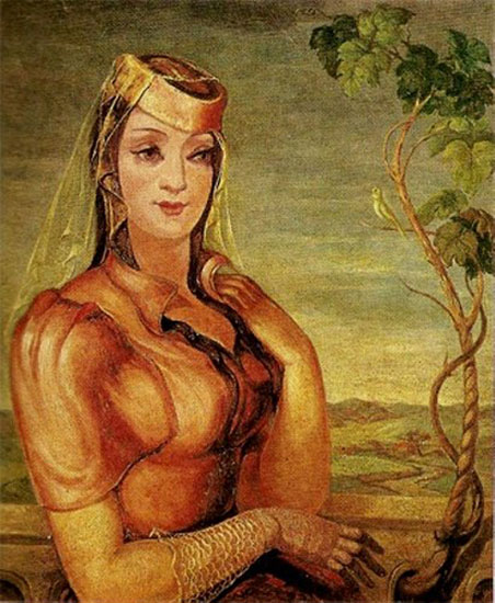 Портрет Мананы Шотадзе.1937