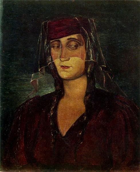 Портрет жены художника Нины 1940 г.
