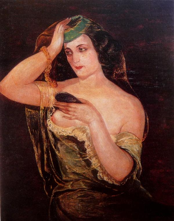 Портрет жены художника Нины 1940 г..