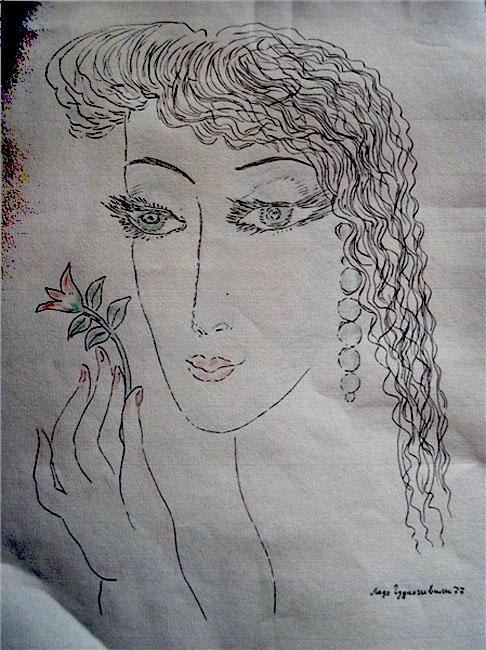 Портрет Майи Плисецкой 1977 г