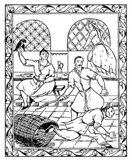 Из иллюстраций к «Мудрости вымысла» Сулхана Сабы Орбелиани.
