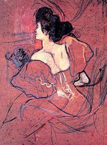 А. Тулуз-Лотрек. «Мадам Натансон в театре». 1895 г.