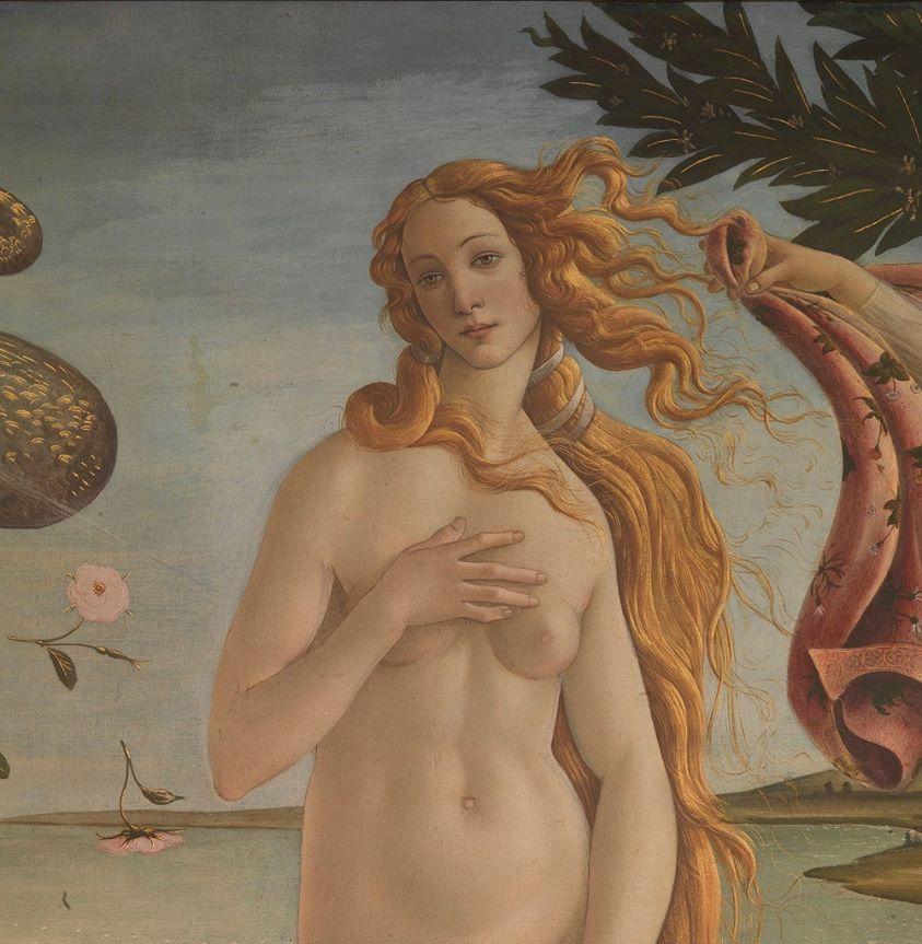 Ботичелли. Рождение Венеры (фрагмент)