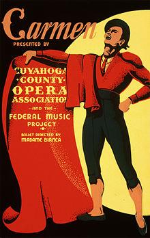 Афиша оперы «Кармен» Википедия