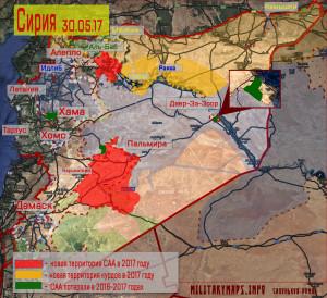 Карта Сирии, контроль территории воюющими сторонами. Сапоньков Роман, militarymaps.info